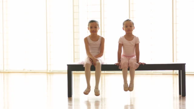 WS young ballerinas waiting for class to start.