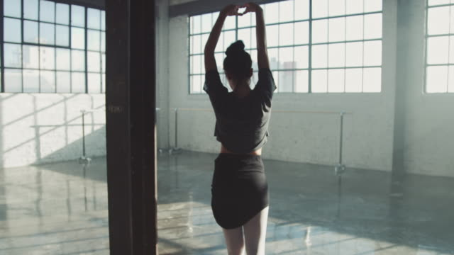 young ballet dancer spinning in studio - ballet dancer stock videos & royalty-free footage