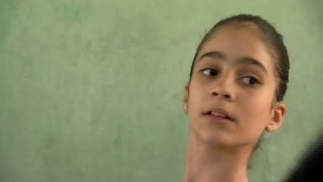 young ballet students practice their dance routine cuba 2 february 2010 - ballet dancing stock videos & royalty-free footage