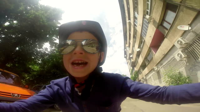 young biker have fun - helmet stock videos & royalty-free footage