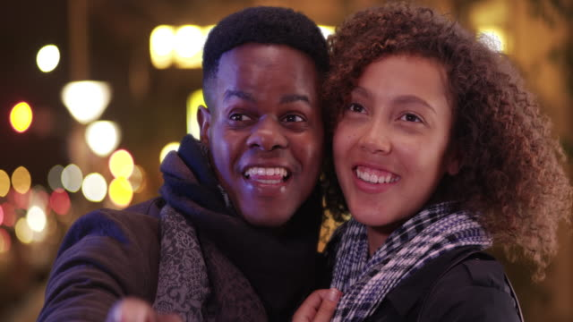 young black couple have a night on the town - admiration stock videos and b-roll footage
