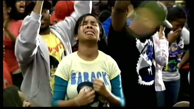 young black howard university students in hall celebrating barack obama's election victory vox pop end lib - midterm election stock videos & royalty-free footage