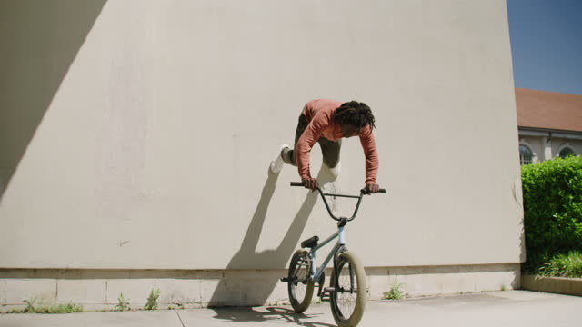 young black male bmx rider - stunt stock videos & royalty-free footage