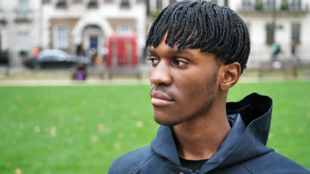 young black male in london, uk - dreadlocks stock videos & royalty-free footage