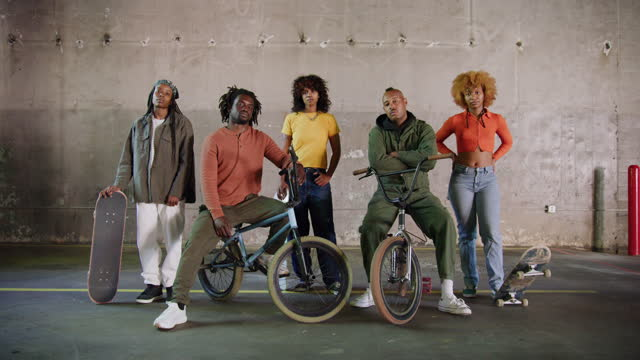 young black skateboarders and bmx riders - stunt stock videos & royalty-free footage