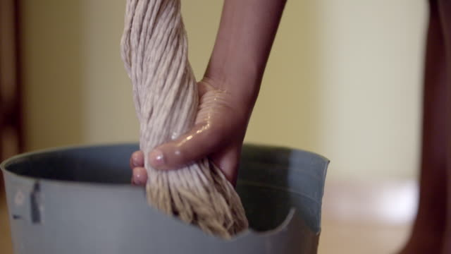 young black woman mopping the floor - hispaniola stock videos & royalty-free footage