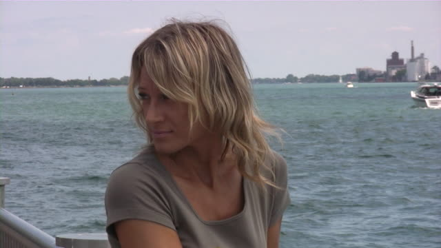 young blonde women in deep thought - one mid adult woman only stock videos & royalty-free footage