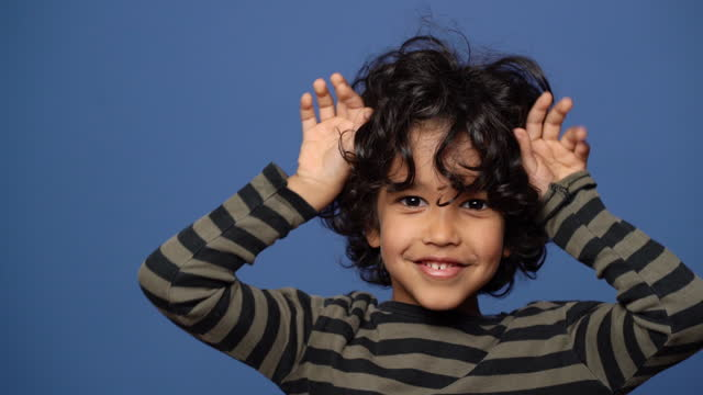 young boy being cheerful - children only stock videos & royalty-free footage