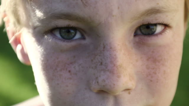 young boy close up - boys stock videos & royalty-free footage