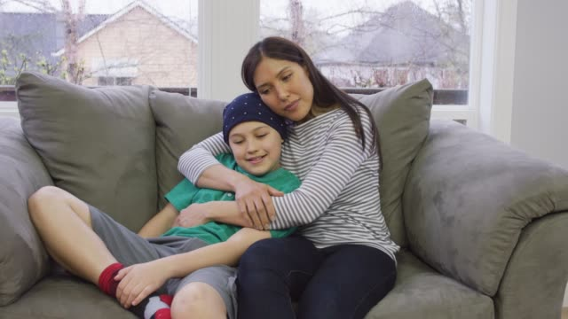young boy recovering from cancer - pacific islander child stock videos & royalty-free footage