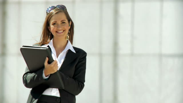 hd dolly: young business woman - in front of stock videos & royalty-free footage