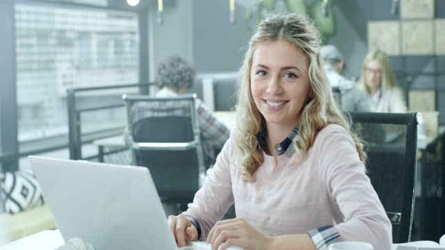 young businesswoman working - business finance and industry stock videos & royalty-free footage