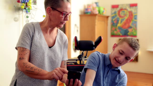 young cerebral palsy patient - cerebral palsy stock videos & royalty-free footage