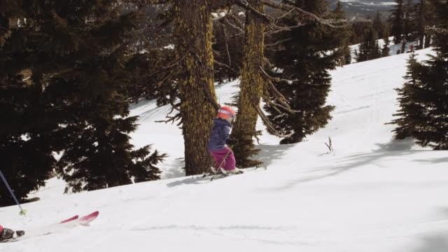 Young child skiing