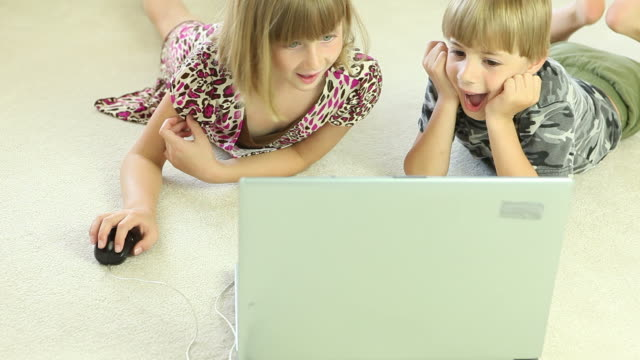 Young Children Using Laptop