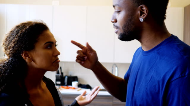 young couple arguing - black couple arguing stock videos & royalty-free footage