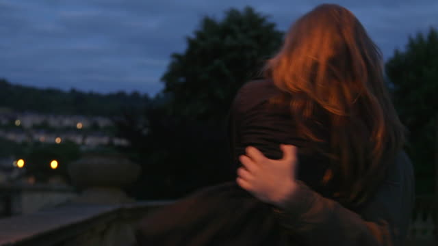 vidéos et rushes de young couple in love outdoors - young men
