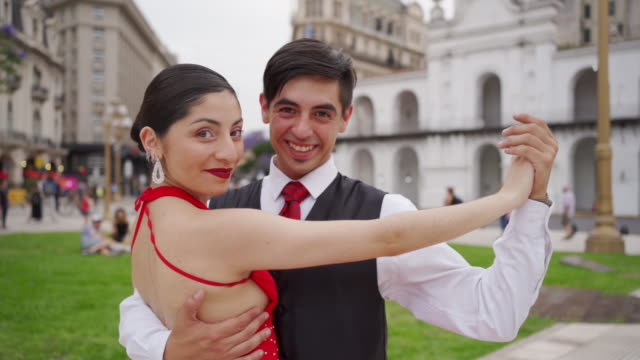 young dancing partners for tango - tango dance stock videos & royalty-free footage