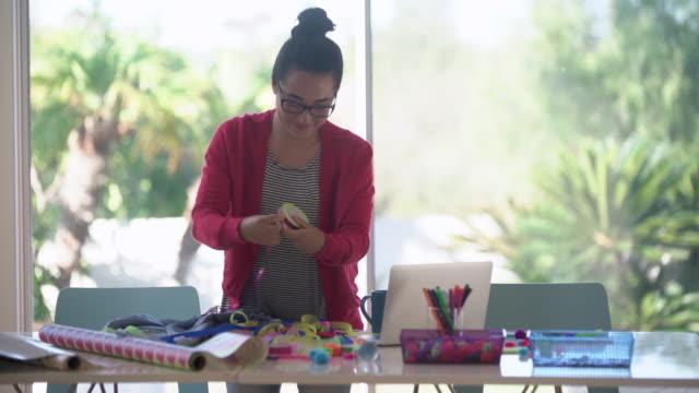MS young designer working in her studio