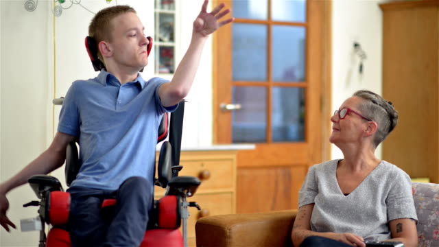 young disabled man - physical disability stock videos & royalty-free footage