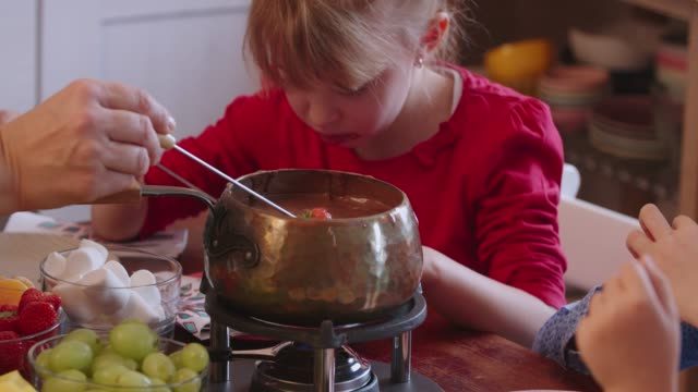 Worlds Best Chocolate Fondue Stock Video Clips And Footage