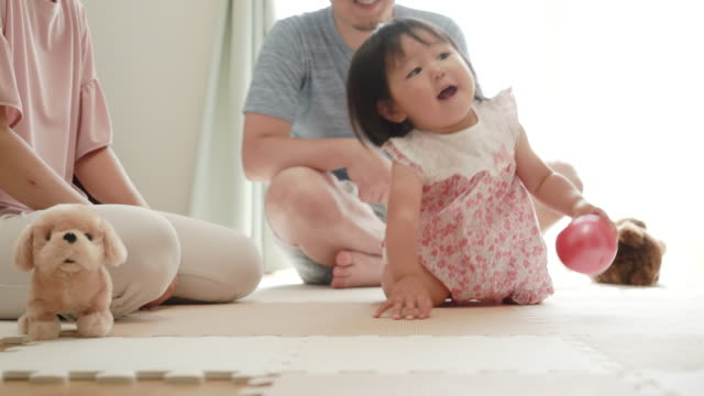young family playing at house - only japanese stock videos & royalty-free footage