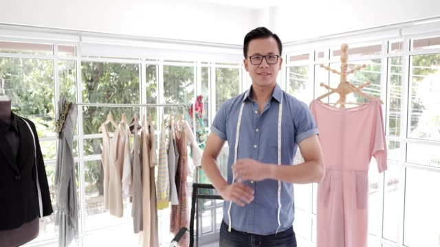 young fashion designer, tailor and dressmaker adjusting clothes on tailoring mannequin - tahiti stock videos and b-roll footage
