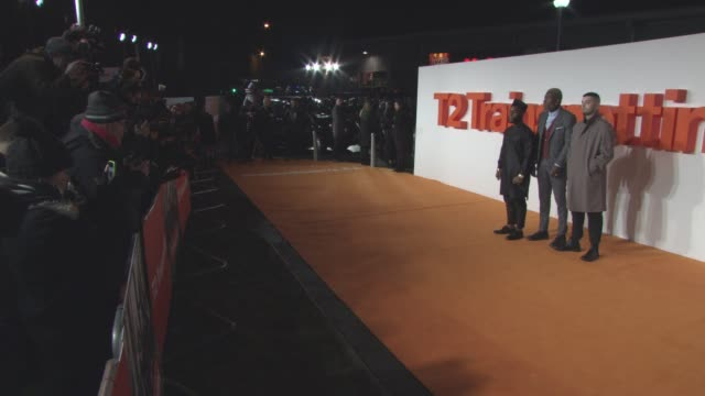 vídeos y material grabado en eventos de stock de young fathers at 't2 trainspotting' world premiere on january 22 2017 in edinburgh scotland - hombre de familia título de película
