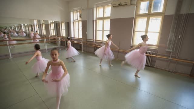 young female ballet dancers in costume performing - dance studio stock videos & royalty-free footage