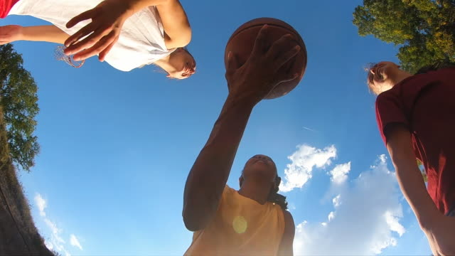 young female basketball players jumping for ball - sports team stock videos & royalty-free footage