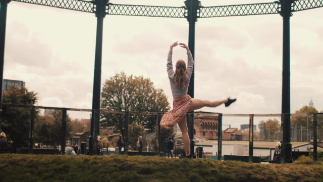 young female dancer exercising in the city - sports training stock videos & royalty-free footage