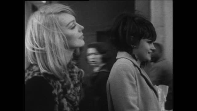 young female friends spend time together on london street; 1967 - nostalgia stock videos & royalty-free footage