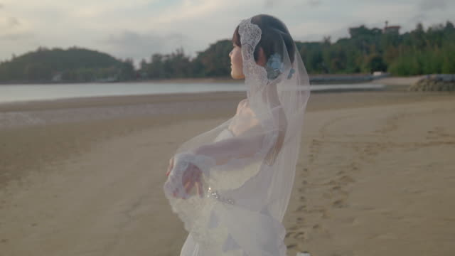 young female in a dress by the ocean. - jp201806 stock videos and b-roll footage