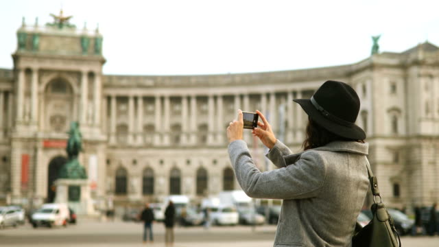 young female tourist in vienna ,austria - traditionally austrian stock videos and b-roll footage