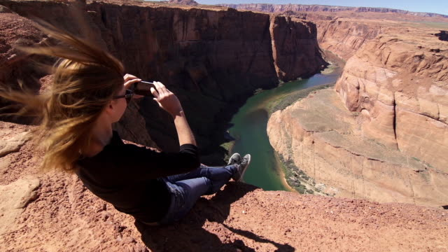 Frau fotografieren, Grand Canyon