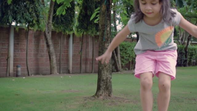 Young Girl Balances