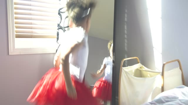 young girl dancing with her father. - mirror stock videos & royalty-free footage