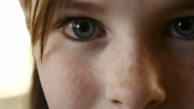 young girl eyes - pre adolescent child stock videos & royalty-free footage