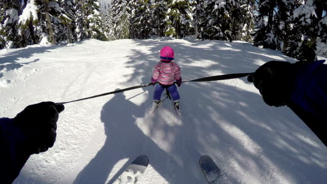 young girl learning to ski - ski stock videos & royalty-free footage