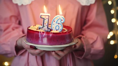 young girl lighting 16 candles on birthday cake - 16 17 years stock videos & royalty-free footage