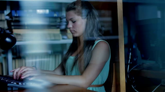 Young girl with computer