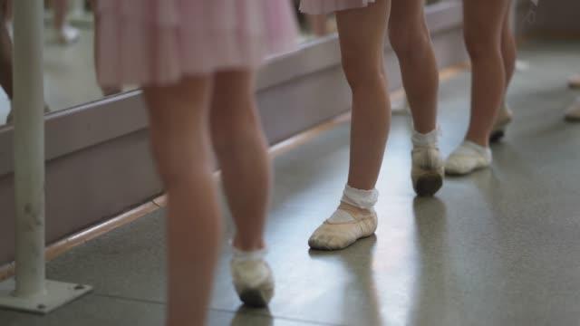 young girls on ballet class - studio di danza video stock e b–roll