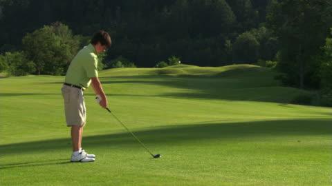 vídeos de stock, filmes e b-roll de young golfer - veja outros clipes desta filmagem 1271