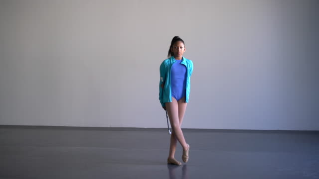 WS young gymnast practicing in a dance studio