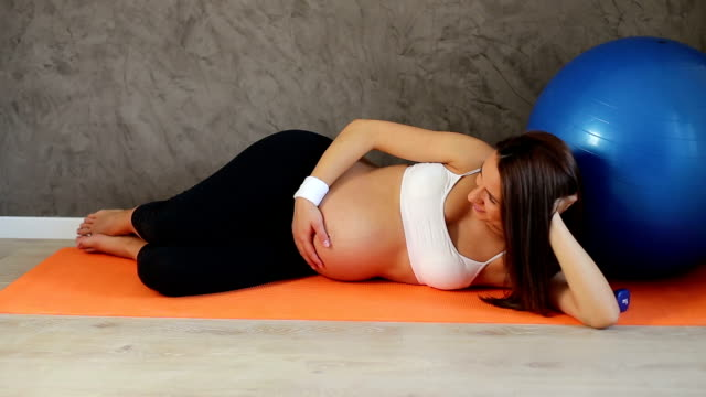 young healthy pregnant woman - prenatal care stock videos & royalty-free footage