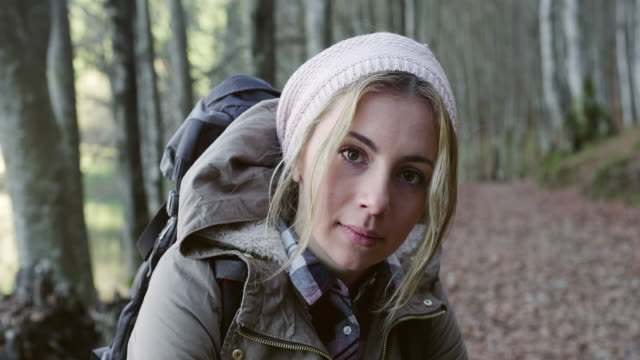 Young hiking woman