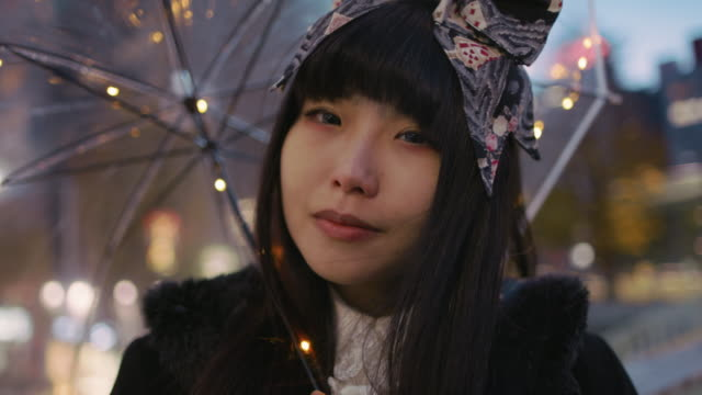 cu a young japanese woman in harajuku / tokyo, japan - individuality stock videos & royalty-free footage