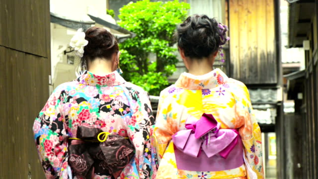 young japanese woman in yukata - kimono stock videos & royalty-free footage
