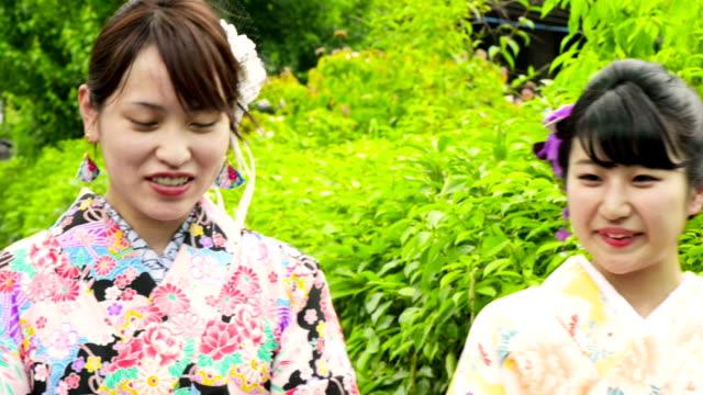 Junge Japanische Frau in Yukata