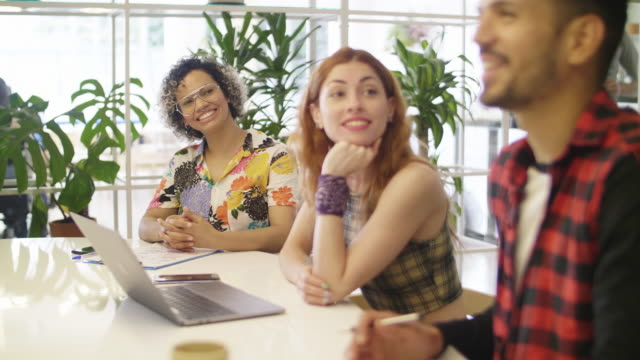 young latin american business coworkers - coworking stock videos & royalty-free footage